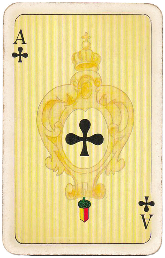 Freshly minted gold coins right into your pocket! - Ace of clubs - #PlayingCardsTop1000
