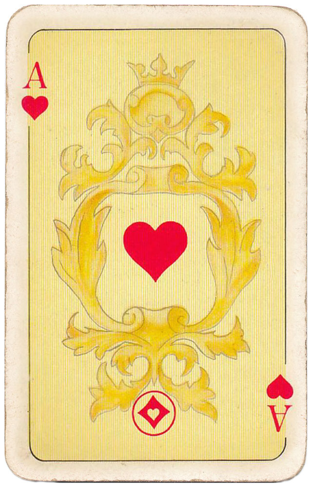 Freshly minted gold coins right into your pocket! - Ace of hearts - #PlayingCardsTop1000