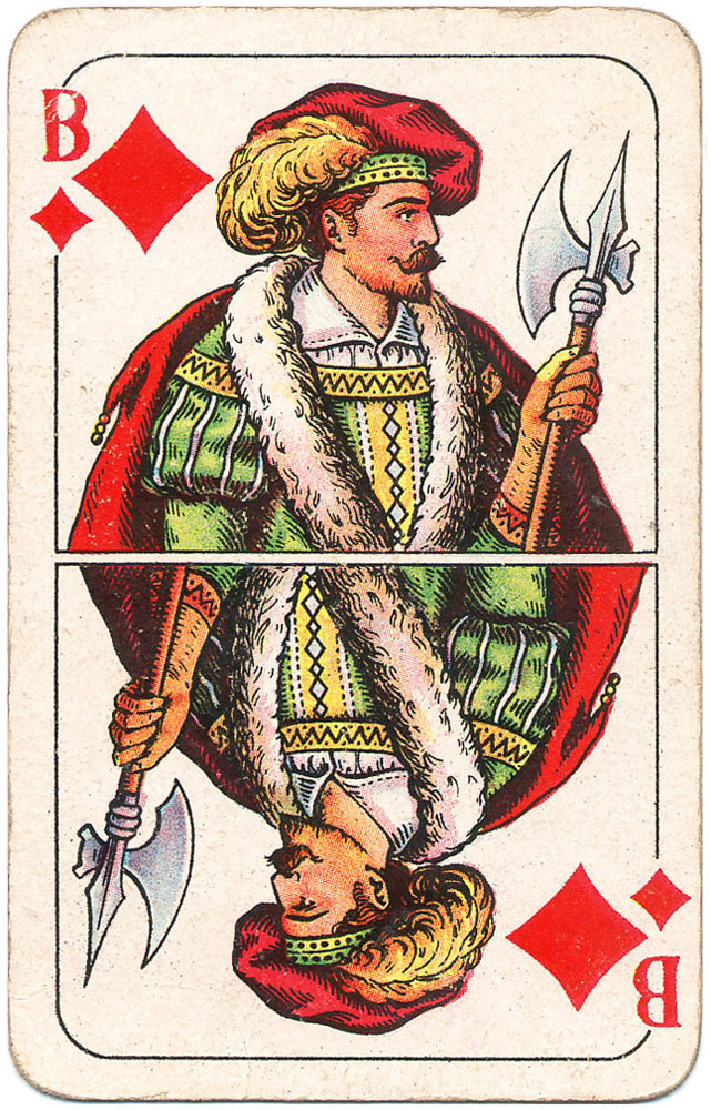 Those knechts from Prussia will take care of love and war - Jack of diamonds - #PlayingCardsTop1000