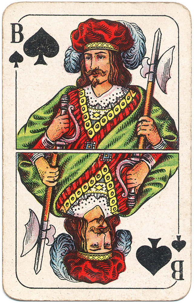 Those knechts from Prussia will take care of love and war - Jack of spades - #PlayingCardsTop1000