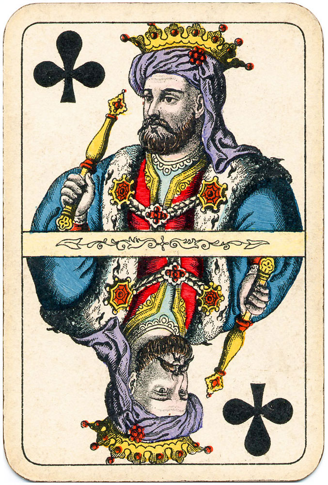 Kings come from the far Orient bringing magnificent gifts - clubs - #PlayingCardsTop1000
