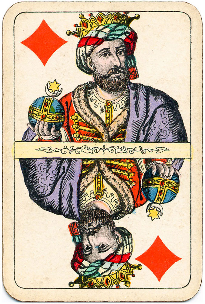 Kings come from the far Orient bringing magnificent gifts - diamonds - #PlayingCardsTop1000