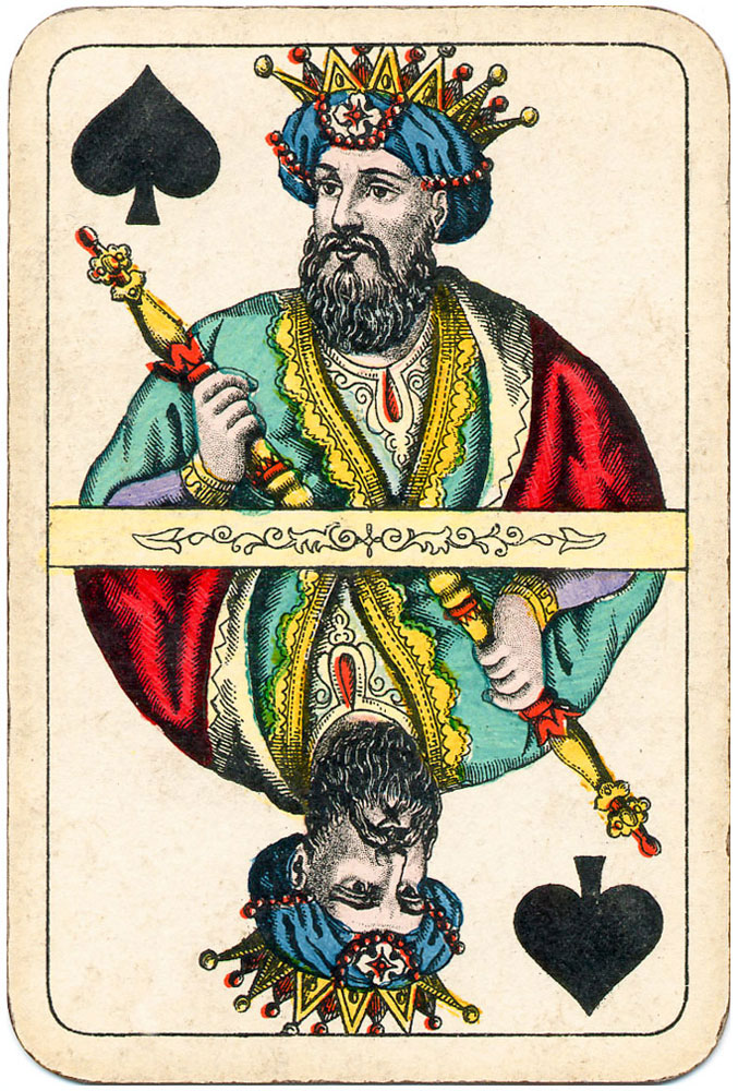 Kings come from the far Orient bringing magnificent gifts - spades - #PlayingCardstop1000