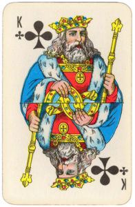 Atlasnye Pervyj Nomer Soviet Union Playing Cards – King of clubs