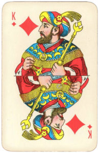 Atlasnye Pervyj Nomer Soviet Union Playing Cards – King of diamonds