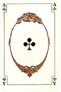 August Denk and Co Austria Allerfeinste Patience and Whist – Ace of clubs
