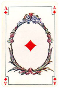 August Denk and Co Austria Allerfeinste Patience and Whist – Ace of diamonds