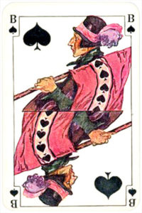 August Denk and Co Austria Allerfeinste Patience and Whist – Jack of spades