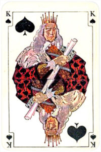 August Denk and Co Austria Allerfeinste Patience and Whist – King of spades