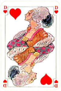 August Denk and Co Austria Allerfeinste Patience and Whist – Queen of hearts
