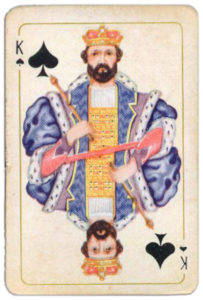 Belgium Brepols Luxus Skatkarte – King of spades