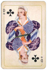 Belgium Brepols Luxus Skatkarte – Queen of clubs