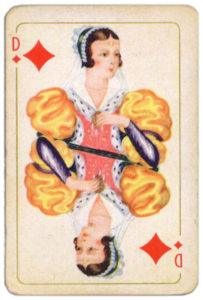 Belgium Brepols Luxus Skatkarte – Queen of diamonds