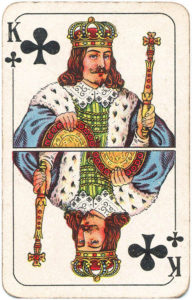 Berlin Pattern Playing Cards – King of clubs