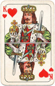 Berlin Pattern Playing Cards – King of hearts