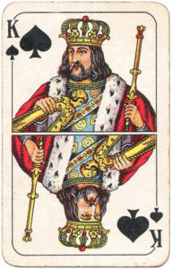 Berlin Pattern Playing Cards – King of spades