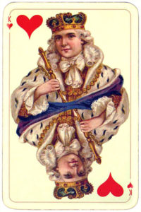 Golden age deck – King of hearts