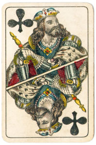 J Glanz cards from Austria 19th century King of Clubs