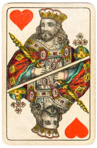 J Glanz cards from Austria 19th century King of Hearts