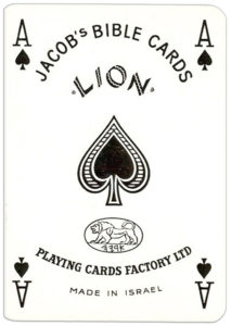 Jacobs Bible Cards Published by Lion Israel Ace of spades