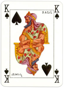 Jacobs Bible Cards Published by Lion Israel Saul – King of spades