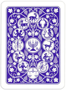 Jacobs Bible Cards Published by Lion Israel back card blue