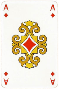 Japan themed deck by Piatnik – Ace of diamonds