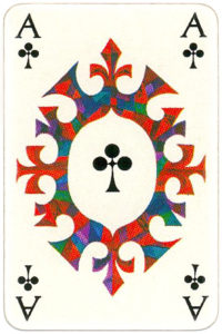 KLM playing cards of Netherlands airlines – Ace of clubs