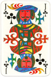 KLM playing cards of Netherlands airlines – Jack of clubs