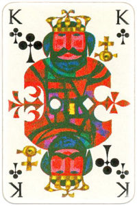 KLM playing cards of Netherlands airlines – King of clubs