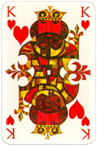 KLM playing cards of Netherlands airlines – King of hearts