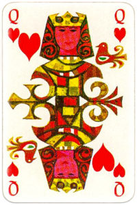 KLM playing cards of Netherlands airlines – Queen of hearts