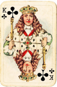 Luxus Patience by Piatnik about 1925 King of of clubs