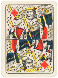 Morreale Portrait de Lombardie Carte per tresette scopa briscola Tipo italiano – King of diamonds