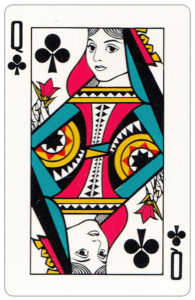 Oberg Son Eskilstuna Sweden Cards made for The Bofors Group – Queen of clubs