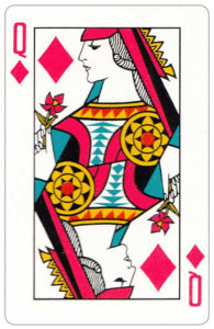Oberg Son Eskilstuna Sweden Cards made for The Bofors Group – Queen of diamonds