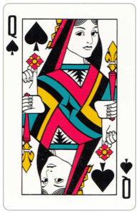 Oberg Son Eskilstuna Sweden Cards made for The Bofors Group – Queen of spades