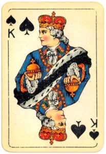 Patience Spiel VASS Germany – King of spades