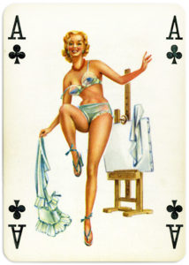 Pinup cards by Piatnik Baby Dolls from 1956 Ace of clubs