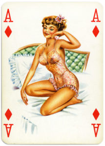 Pinup cards by Piatnik Baby Dolls from 1956 Ace of diamonds