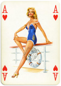 Pinup cards by Piatnik Baby Dolls from 1956 Ace of hearts