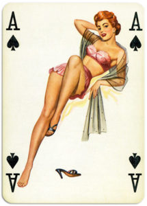 Pinup cards by Piatnik Baby Dolls from 1956 Ace of spades