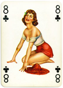 Pinup cards by Piatnik Baby Dolls from 1956 Eight of clubs