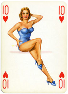 Pinup cards by Piatnik Baby Dolls from 1956 Ten of hearts