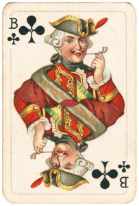 Rare pattern of baroque cards by Piatnik – Jack of clubs