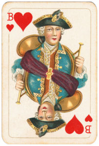 Rare pattern of baroque cards by Piatnik – Jack of hearts