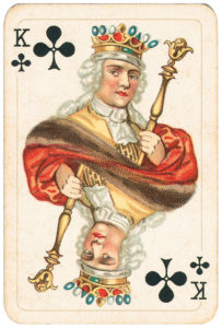 Rare pattern of baroque cards by Piatnik – King of clubs