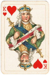 Rare pattern of baroque cards by Piatnik – King of hearts