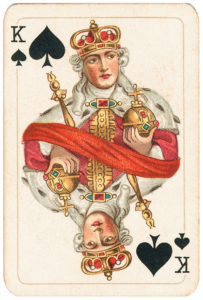 Rare pattern of baroque cards by Piatnik – King of spades