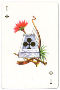 Souvenir historic cards from Russia – Ace of clubs
